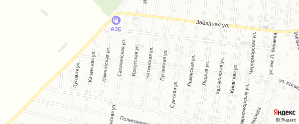 Читинская улица на карте Урус-мартана с номерами домов