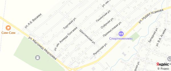 Шахтинская улица на карте Урус-мартана с номерами домов