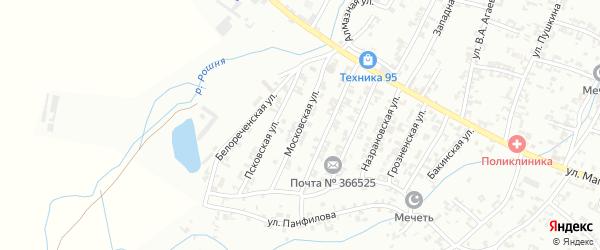 Московская улица на карте Урус-мартана с номерами домов