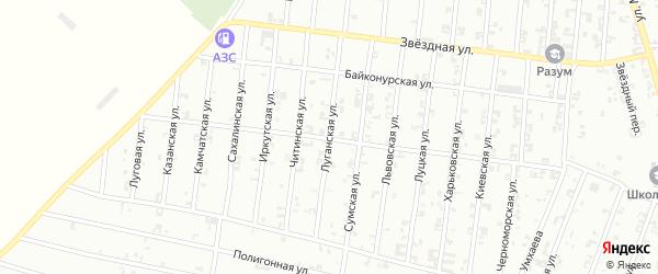 Луганская улица на карте Урус-мартана с номерами домов