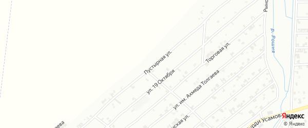 Пустырная улица на карте Урус-мартана с номерами домов