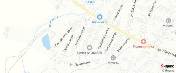 Элистинская улица на карте Урус-мартана с номерами домов