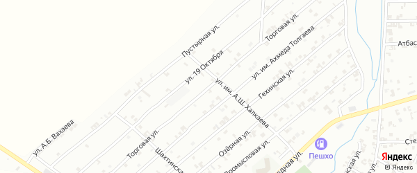 Торговая улица на карте Урус-мартана с номерами домов