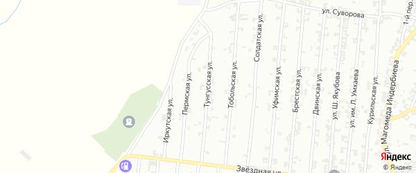 Тунгусская улица на карте Урус-мартана с номерами домов