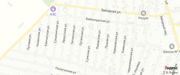 Сумская улица на карте Урус-мартана с номерами домов
