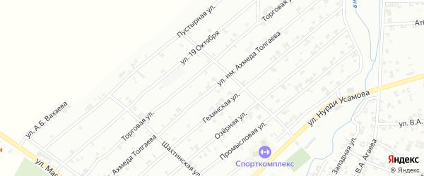 Ленинградская улица на карте села Гой-чу с номерами домов