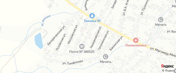 Астраханская улица на карте Урус-мартана с номерами домов