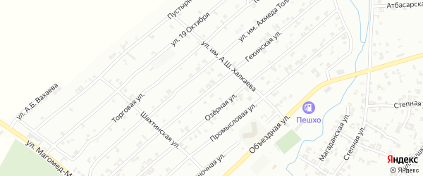 Гехинская улица на карте Урус-мартана с номерами домов
