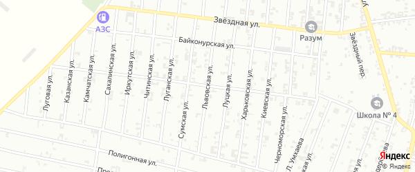 Львовская улица на карте Урус-мартана с номерами домов