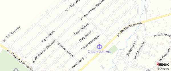 Озерная улица на карте Урус-мартана с номерами домов