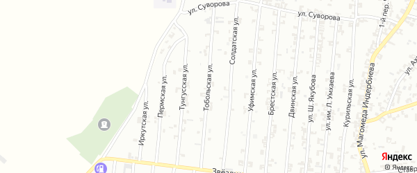 Тобольская улица на карте Урус-мартана с номерами домов