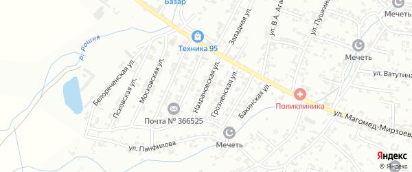 Назрановская улица на карте Урус-мартана с номерами домов
