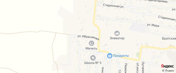 Улица Ибрагимова на карте села Алхан-Кала с номерами домов