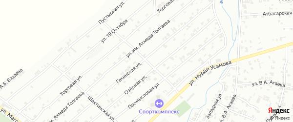 Кузбасская улица на карте Урус-мартана с номерами домов