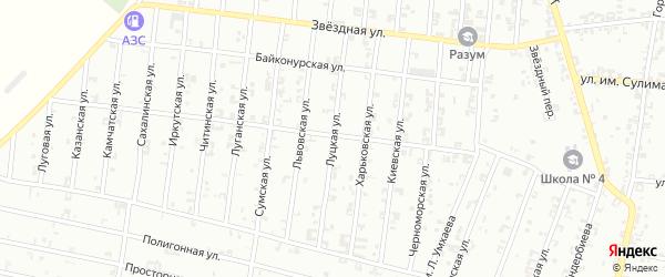 Луцкая улица на карте Урус-мартана с номерами домов