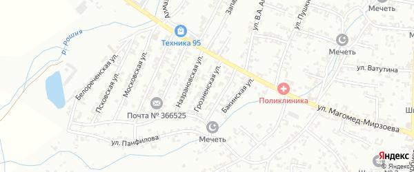 Грозненская улица на карте Урус-мартана с номерами домов