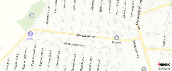 Звездная улица на карте Урус-мартана с номерами домов