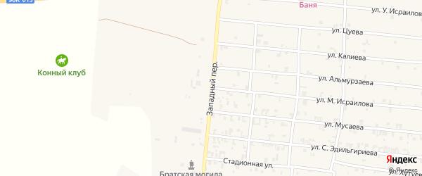 Западный переулок на карте Грозного с номерами домов