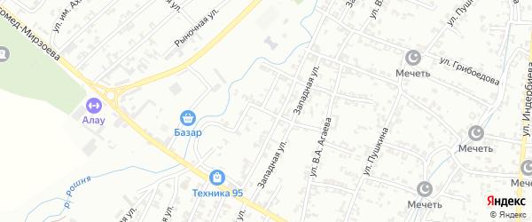 Алмазная улица на карте Урус-мартана с номерами домов