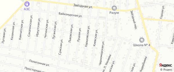Харьковская улица на карте Урус-мартана с номерами домов