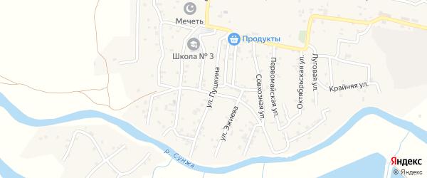Улица Пушкина на карте поселка Гикало с номерами домов