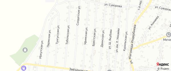 Уфимская улица на карте Урус-мартана с номерами домов