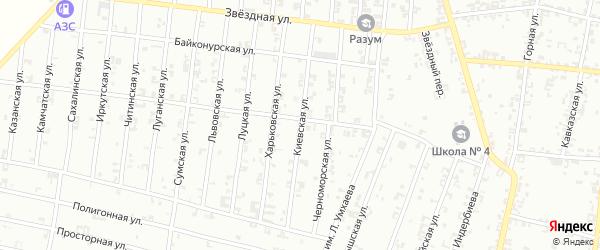 Киевская улица на карте Урус-мартана с номерами домов