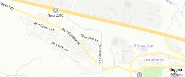 Парковая улица на карте Грозного с номерами домов