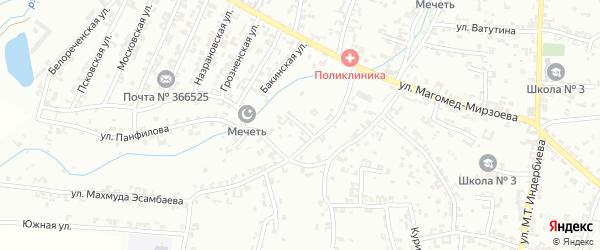 Бакинская улица на карте села Гой-чу с номерами домов