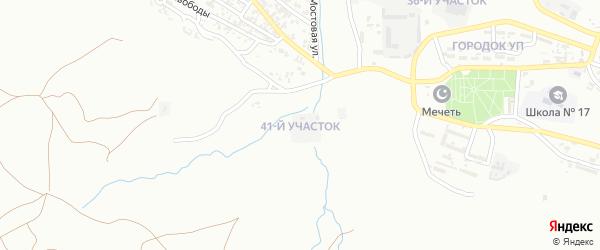 41-й участок на карте Грозного с номерами домов