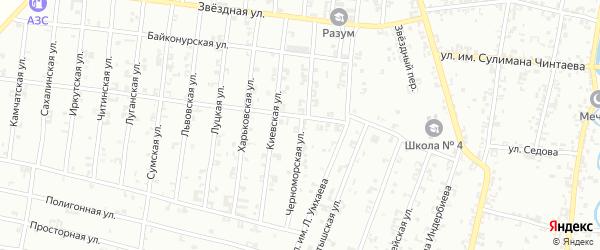 Черноморская улица на карте Урус-мартана с номерами домов