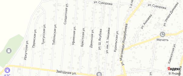 Двинская улица на карте Урус-мартана с номерами домов