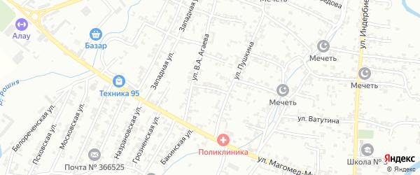 Переулок Пушкина на карте Урус-мартана с номерами домов