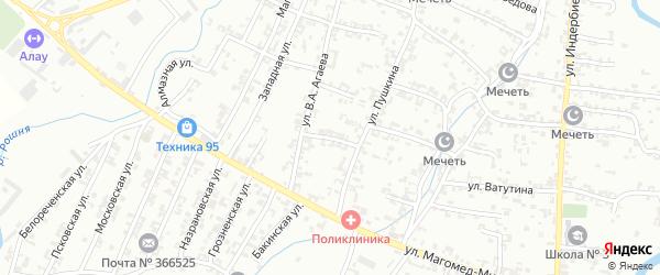 Улица С-А.Д.Берзищева на карте Урус-мартана с номерами домов
