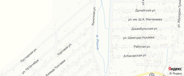 Рыночная улица на карте Урус-мартана с номерами домов