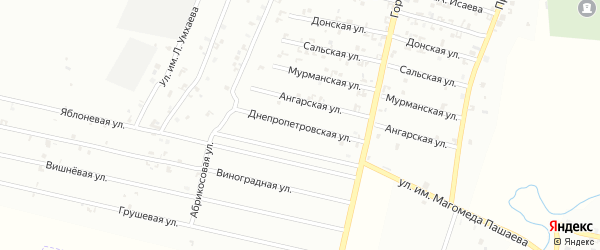 Яблоневая улица на карте Урус-мартана с номерами домов