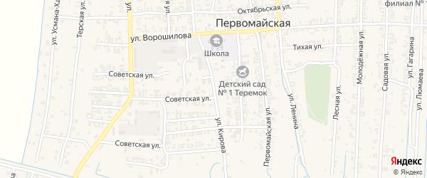 Улица Кирова на карте Первомайской станицы с номерами домов