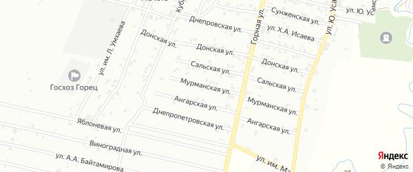 Мурманская улица на карте Урус-мартана с номерами домов
