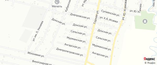 Ангарская улица на карте Урус-мартана с номерами домов