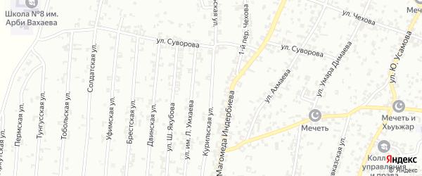 Курильская улица на карте Урус-мартана с номерами домов