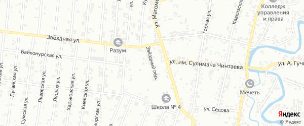 Звездный переулок на карте Урус-мартана с номерами домов
