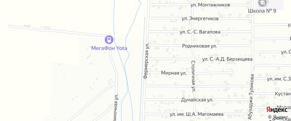 Фермерская улица на карте Урус-мартана с номерами домов