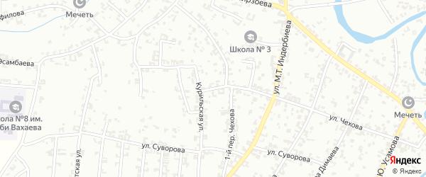 Переулок 2-й Чехова на карте Урус-мартана с номерами домов