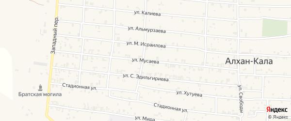 Улица им Т.И.Мусаева на карте Грозного с номерами домов