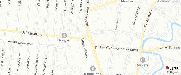Улица Магомеда Индербиева на карте Урус-мартана с номерами домов