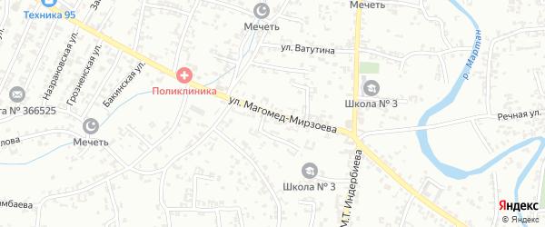 Переулок 1-й Магомед-Мирзоева на карте Урус-мартана с номерами домов