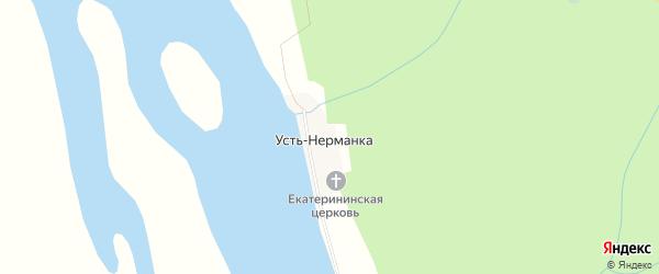 Карта деревни Устьнерманки в Архангельской области с улицами и номерами домов