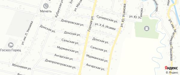 Донская улица на карте Урус-мартана с номерами домов