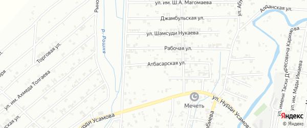 Атбасарская улица на карте Урус-мартана с номерами домов