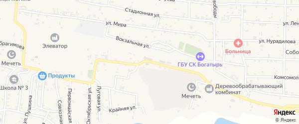 Элеваторная улица на карте села Алхан-Кала с номерами домов